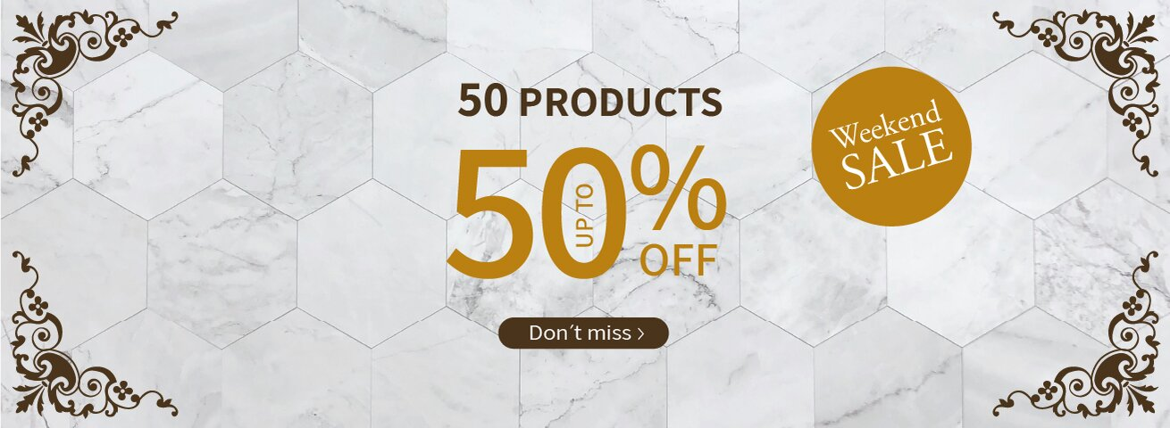 50 product up to 50% dis: No double discounts and promotions. For the products participating in the sale. Valid between the dates 24-28/9