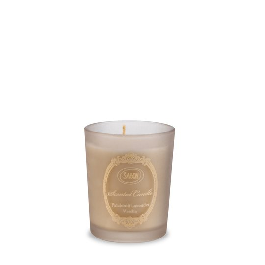 Candle in glass Patchouli Lavender Vanilla S