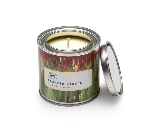Candle in a Paint Tin | Green Rose