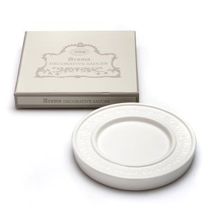Home Accessories Aroma Holder White Saucer