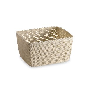 Crochet Basket Cream L