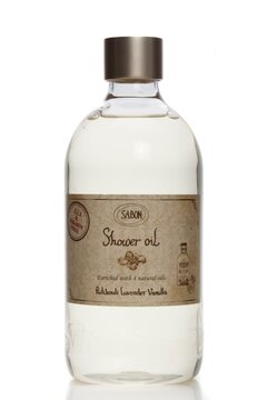 Shower Oil PET Patchouli Lavender Vanilla